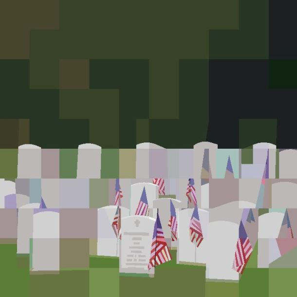 King Wisconsin Veteran's Cemetery 2014 Quilt Peggy Aare