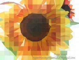 Sunflower Peggy Aare PaperPiecingHeartland_at_gmailTX
