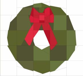 Wisconsin Quilting Free Paper Pieced Wreath pattern
