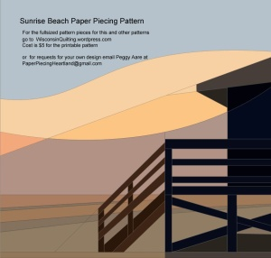Sunrise Beach paper piecing