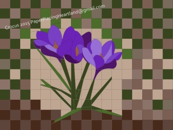 Here's a crocus pattern to bring spring to anyone's heart.
