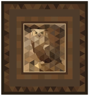 Great Horned Owl paper piecing