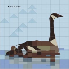 Goose and Goslings Paper Piecing — Fabriclines