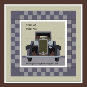 Antique Car Paper Piecing Quilt Pattern