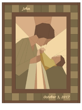 Charming paper piecing: Mom andBaby