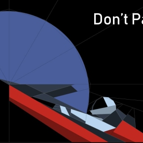 Don't Panic – Paper-pieced car inorbit