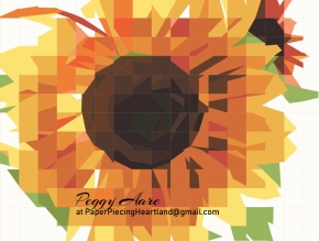 Ragged Sunflower — Paper piecing