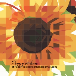 Ragged Sunflower — Paperpiecing