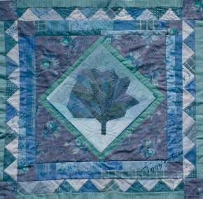 Winter Blues Tree — paper pieced