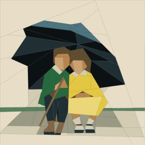 Umbrella Boy and Girl — Paper Piecing Pattern