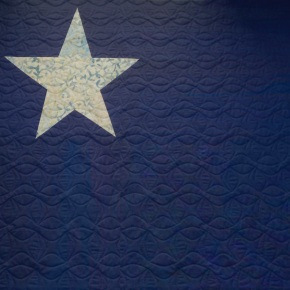 Star Spangled Banner 5-pointed paper pieced star in 2 sizes: 6″ and 12″