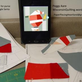 Let Your Light So Shine — Santa Paper Piecing designprocess