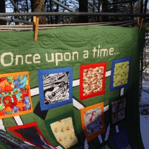 Paper Pieced Lettering: Once Upon aTime…